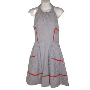 Jessica Simpson Stripe Halter Dress Size 6